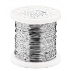 Ø 0,85 mm fil inox 316L - V4A Fil inox recuit poli Qualité contact alimentaire 0.25Kg 55 mètres